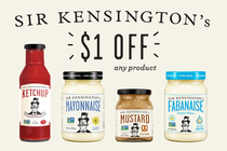 Save $1.00 on any ONE (1) Sir Kensington's product