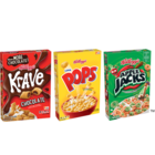 Save $1.00 on any TWO Kellogg's® Corn Pops®,  Krave(TM) and/or Apple Jacks® Cereals (8.7 oz. or Larger, Any Flavor, Mix or Match)