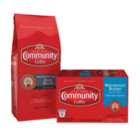 Save $3.50 on any TWO (2) Bags or Single-Serve Boxes of Community® Coffee